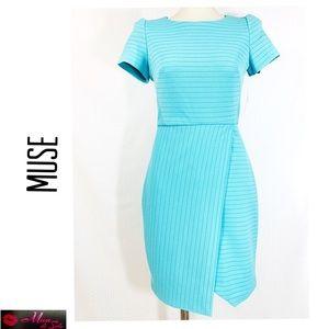 MUSE Seafoam Cap Sleeve Sheath Dress
